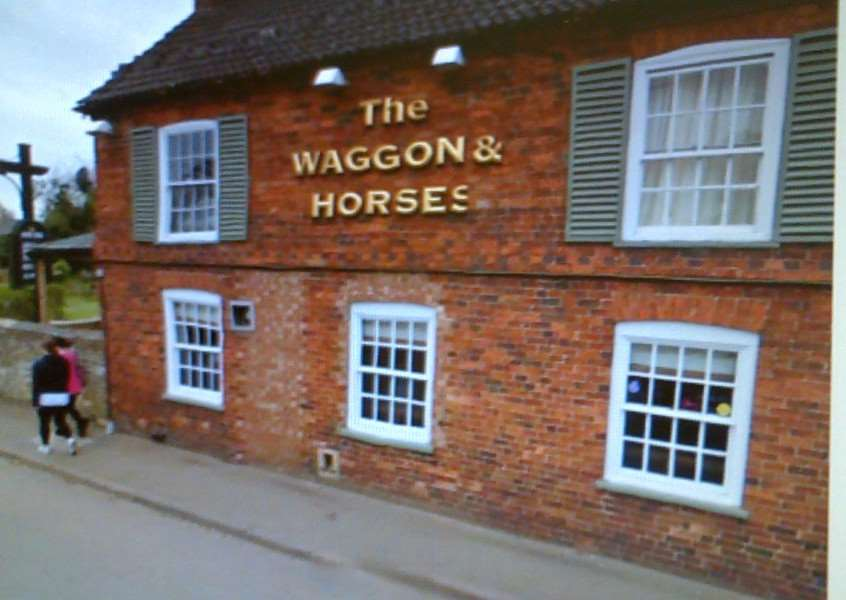 Waggon and Horses pub, in High Street, Caythorpe.