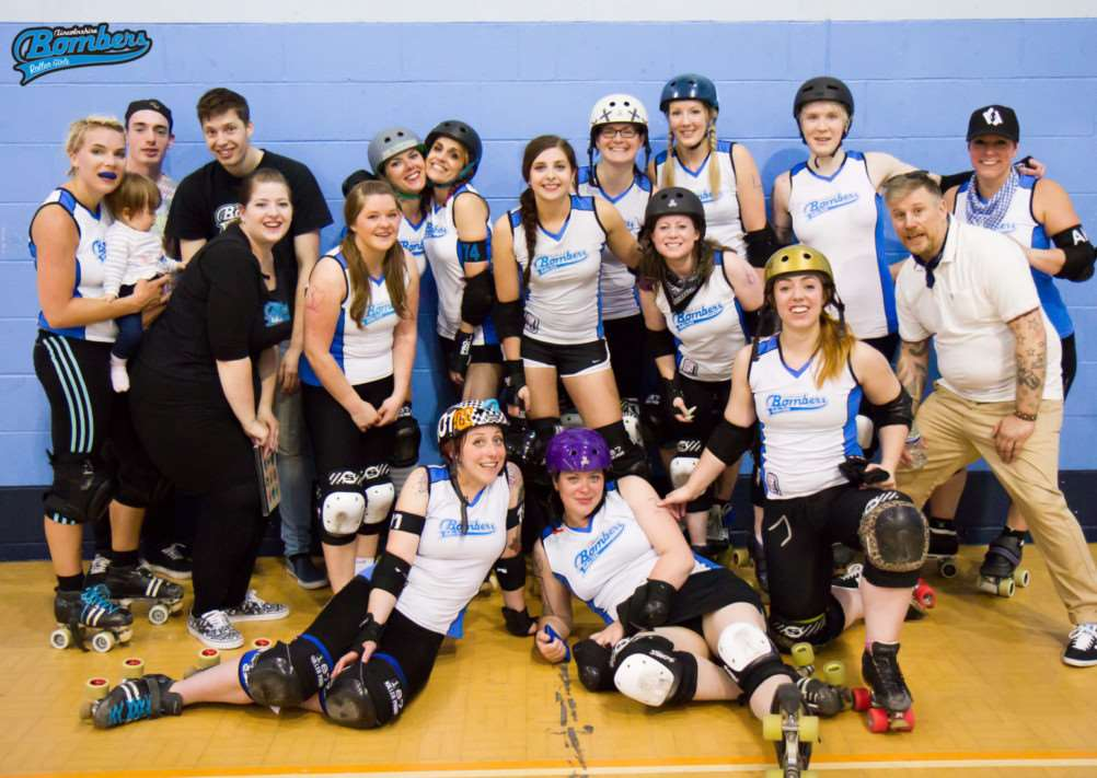 Lincolnshire's original roller derby team, The Lincolnshire Bombers Roller Girls EMN-140716-120802001