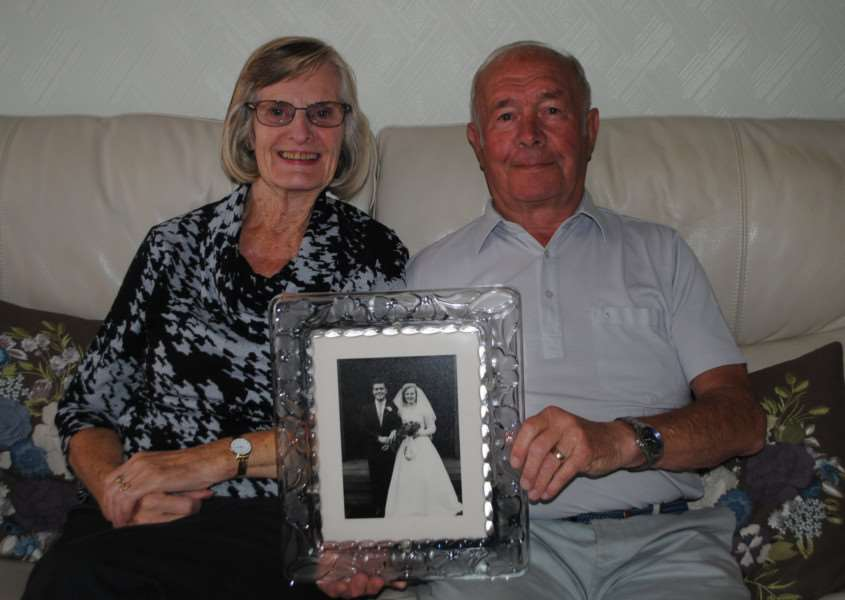 Jim and Dorothy Chalmers are celebrating their diamond wedding anniversary today
