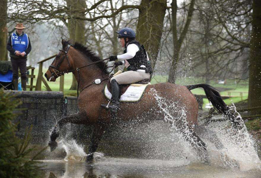 Pippa Funnell at the Belton Horse Trials.