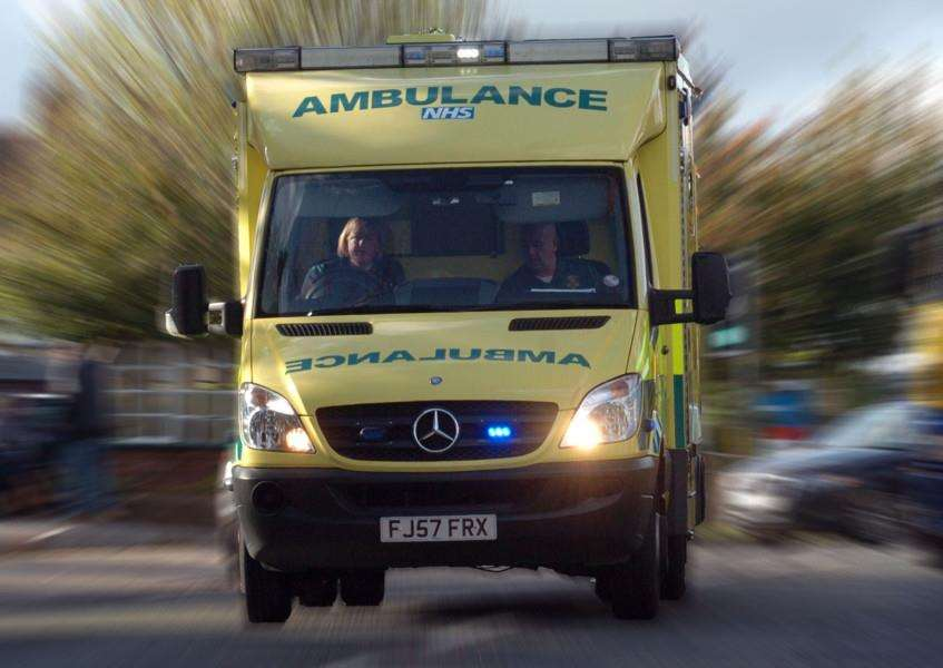 Sarah Anderton gave birth to baby Arlo in the back of an ambulance in February.