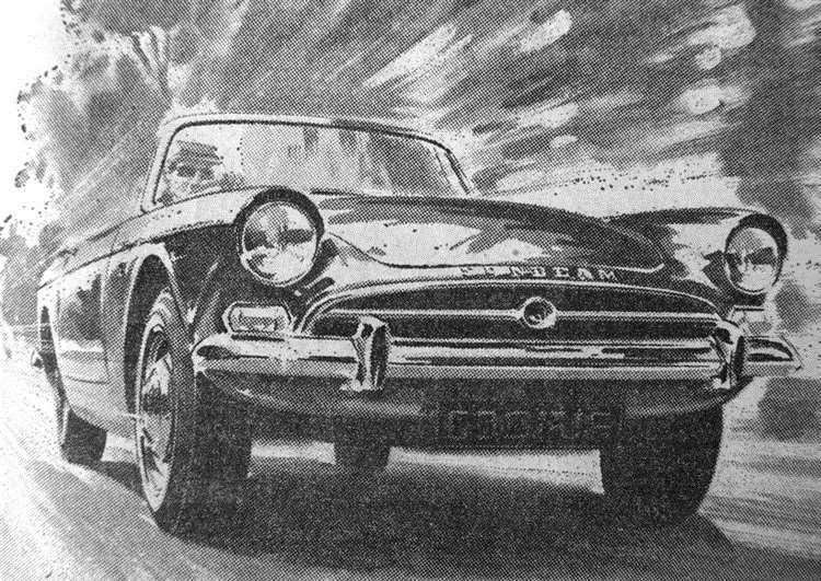 Sunbeam Tiger advertising illustration. (15011686)