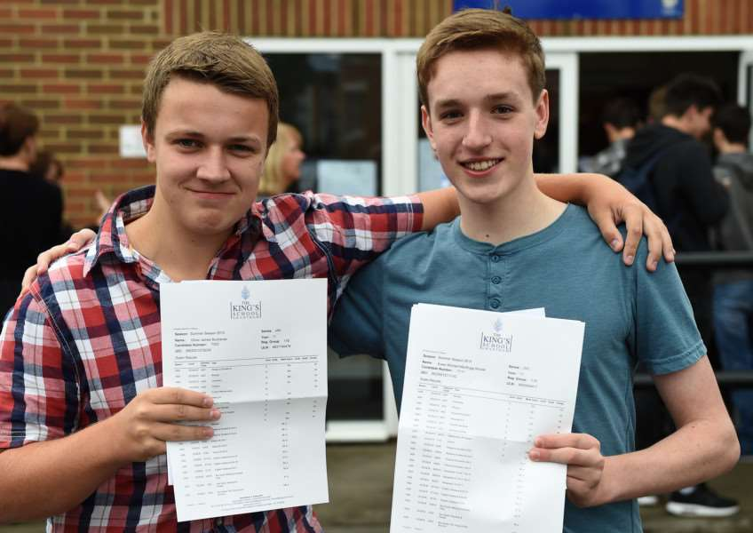 GCSE results, King;s School, Grantham. Pictured are Oliver Buchanan and Ewan Sinclair.