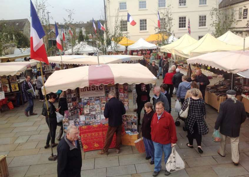 French market in Grantham