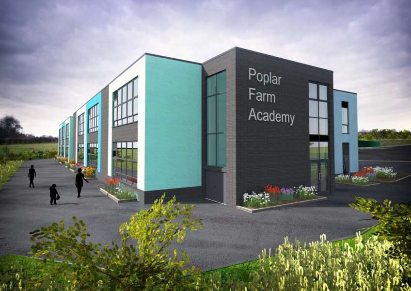 The Poplar Farm Academy is due to open in Grantham in 2018. Drawing: Craig Duncan