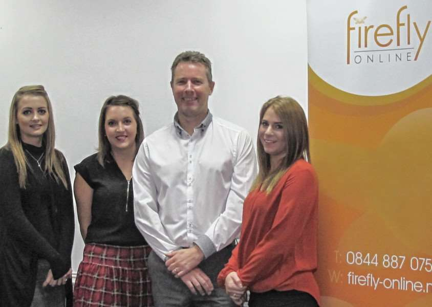 Some of the Firefly team, from left, Jade Wilson, Charlotte Lesser, Richard Ratcliffe, Jade Norsworthy.