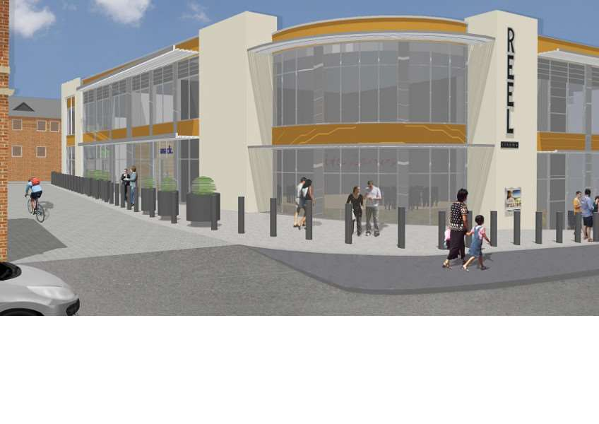 Artist's impression of the new Reel cinema complex to be built in Grantham. EMN-140814-105827001