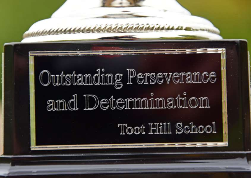 Toot Hill's Great Rod Race: The Jack Archer Memorial Cup inscription.