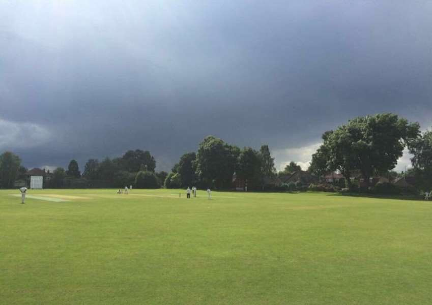 Ominous skies at Durham University did bring rain - but also another victory for Belvoir CC's touring team.
