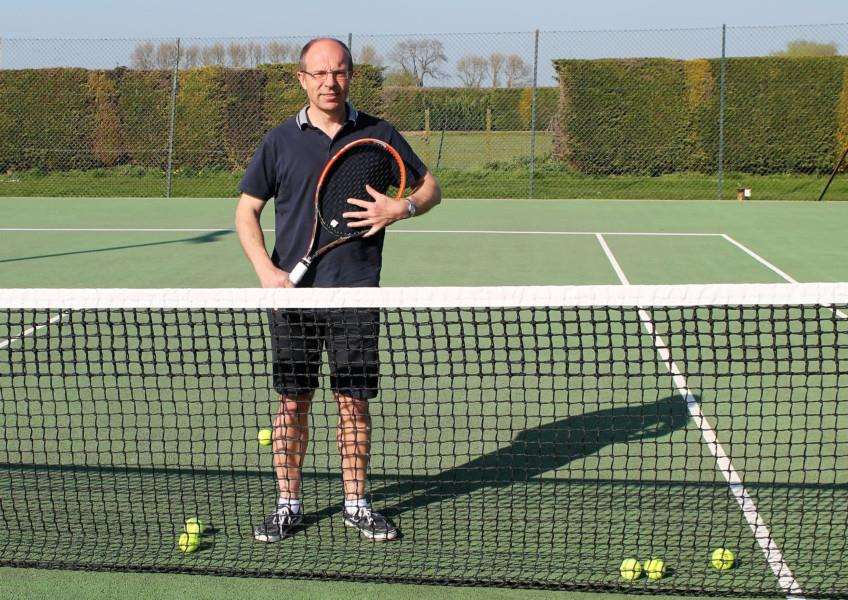 Belvoir Vale Tennis Club's Mark Blackburn.