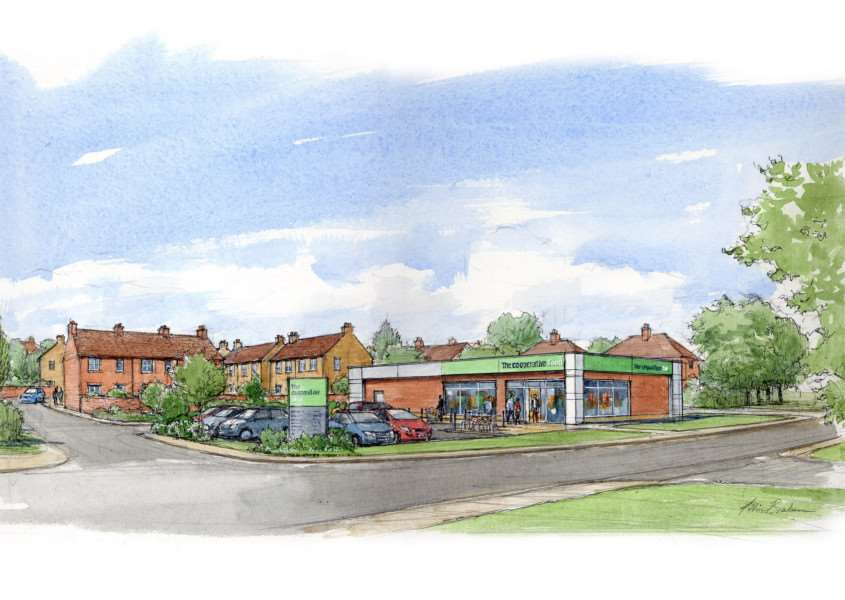The new Co-op store at Ancaster, set to open in five weeks' time. EMN-160119-163257001