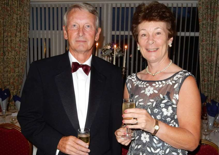 Belton Park captain Paul Screen and lady captain Sheila Mason at the Captains Ball.