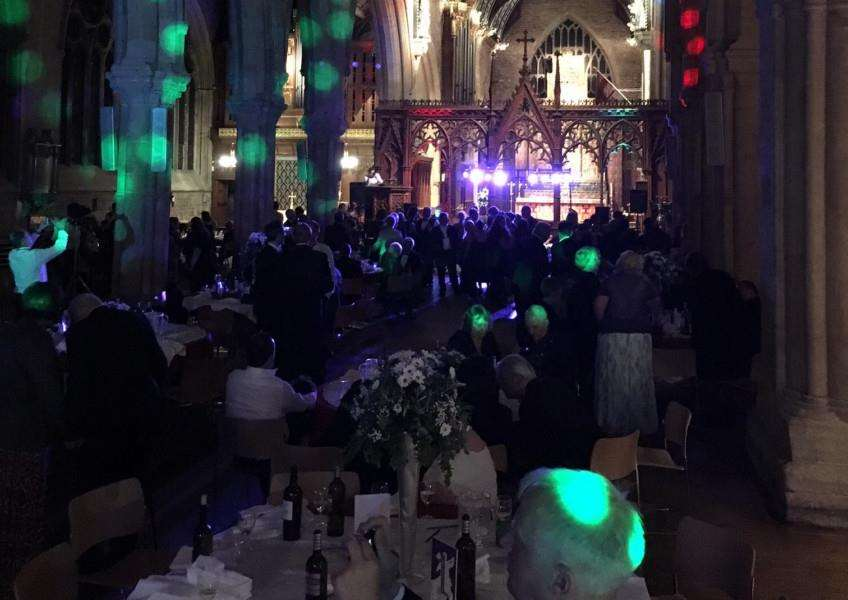 The May Ball in St Wulfram's Church, Grantham.