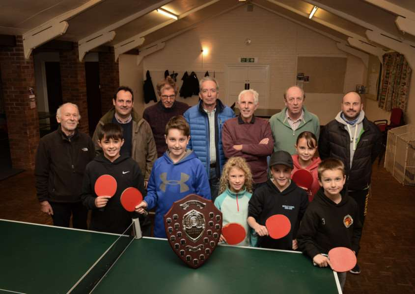 Ropsley Village Hall committee and the table tennis club which uses the hall.
