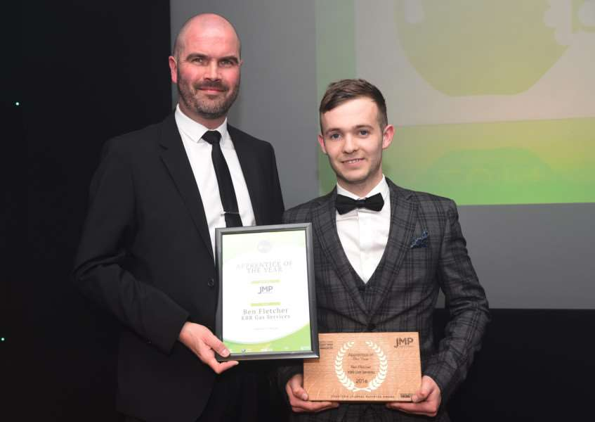 Ben Fletcher, of KBR Gas Services, was Apprentice of the Year at the Grantham Journal Business Awards 2016.