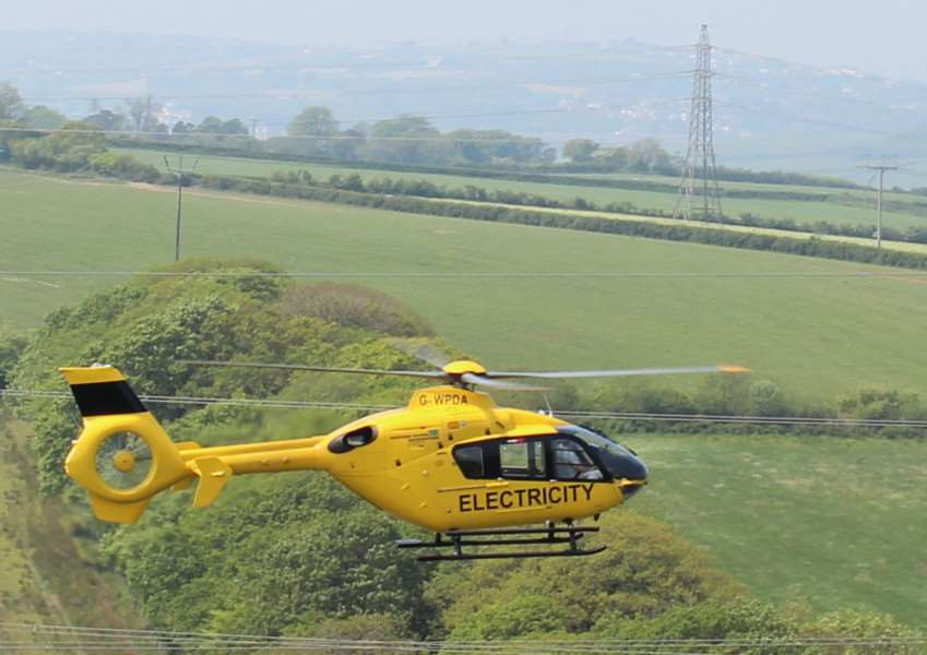 Western Power Distribution are today carrying out checks using a helicopter.