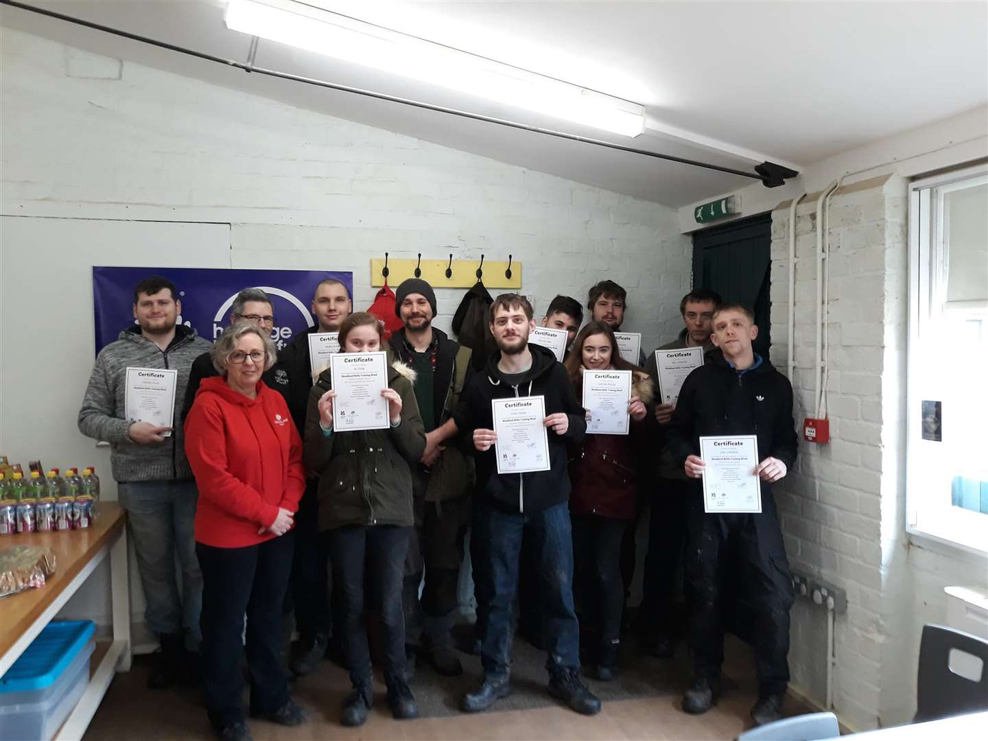 Young unemployed people took part in the woodland learning programme earlier this month. (7447546)