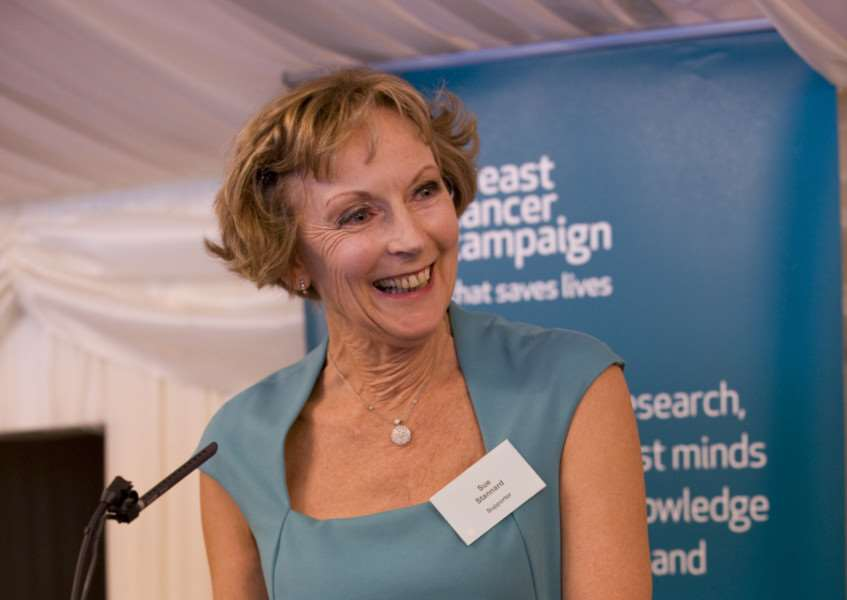 Sue Stannard speaks on behalf of Breast Cancer Campaign at a House of Lords Reception and Awards Ceremony last year. Photo: Sam Mellish