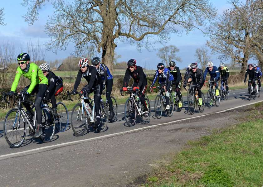 Witham Wheelers enjoy the improved weather conditions. Photo: Alan East
