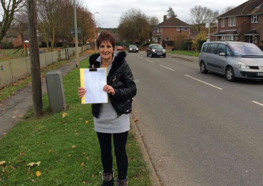 Sue Sawyer, of Harrowby Lane, with her petition. Photo: Ian Selby
