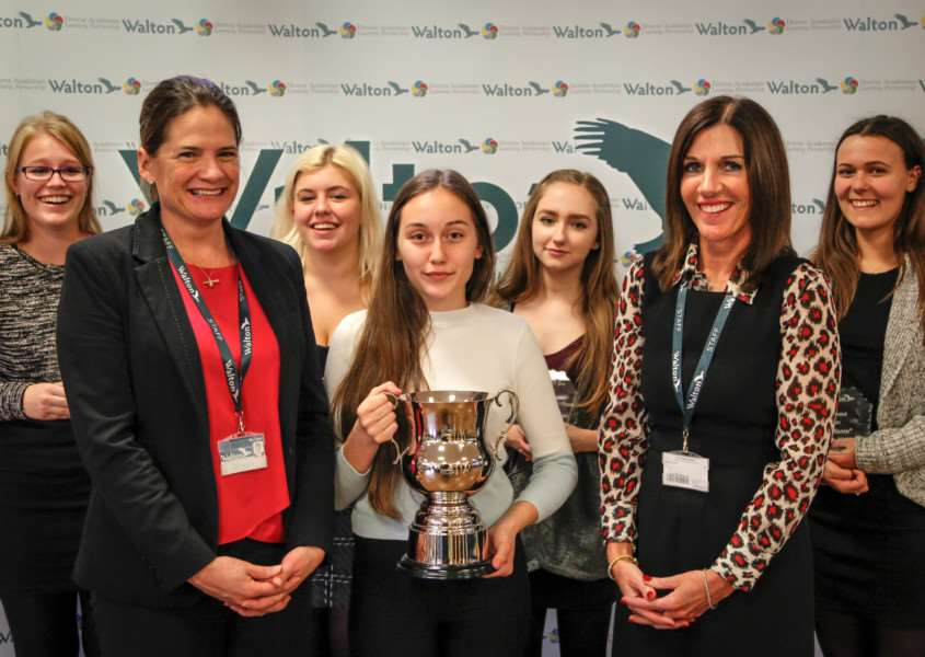 Students, parents, teachers, governors and VIPs celebrated the success of the 2015/16 Year 11 at Walton Girls High School