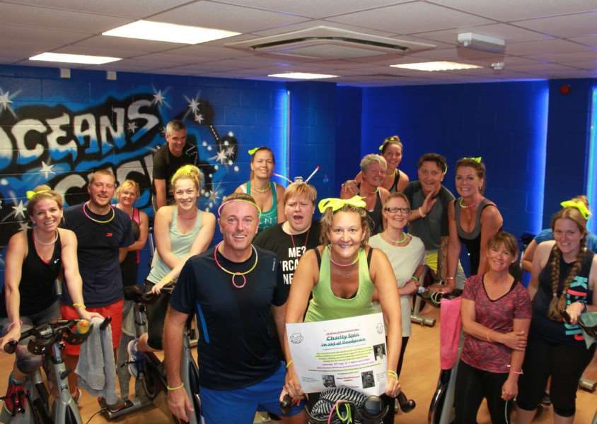 Karen Bowen-Baker and her husband Gareth Bowen hosted two fun charity spinning classes at Oceans Gym raising �1,000 for Roadpeace.