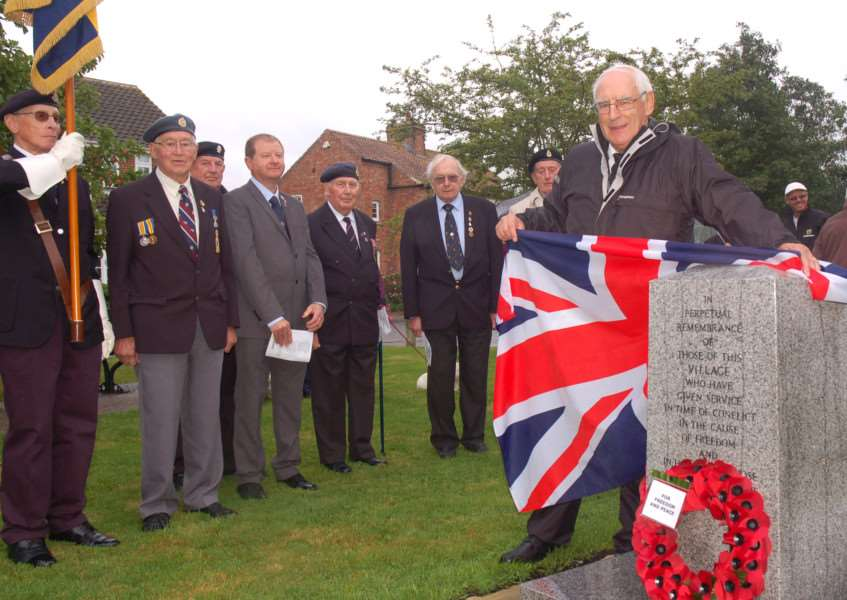 The memorial was unveiled by Pastor Eric Moxham, watched by members of the Hose and Harby branch of the Royal British Legion EMN-160509-124609001